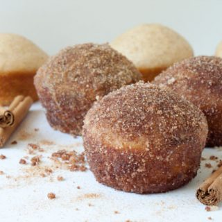 Cinnamon Sugar Crusted Coffee Cake Muffin Recipe! These taste like an old fashioned doughnut. So easy to make and always a huge hit! 220 calories per muffin