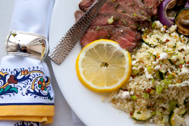 steak and couscous dinner