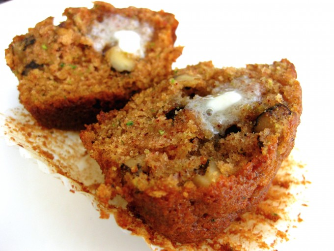 Zucchini Muffins - spicy with cinnamon and loaded with fresh zucchini to add moisture and tenderness
