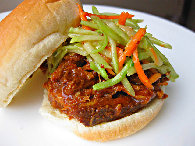 Crock Pot Pulled Pork with Tart Apple Slaw