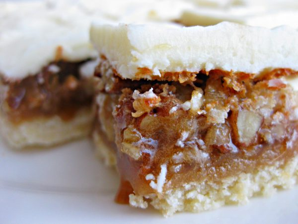 Frosted Pecan Pie Bars