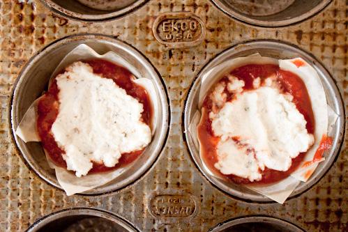 how to make mini lasagnas with wontons