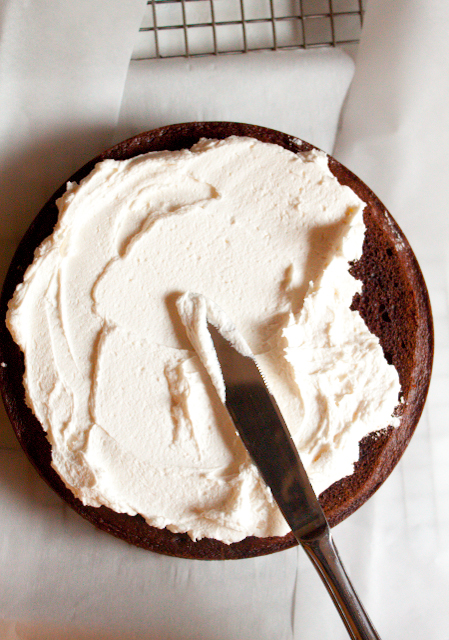 The Best Whipped Frosting Recipe! A fluffy vanilla frosting with a light whipped cream texture. It's less cloyingly sweet than other versions, too!