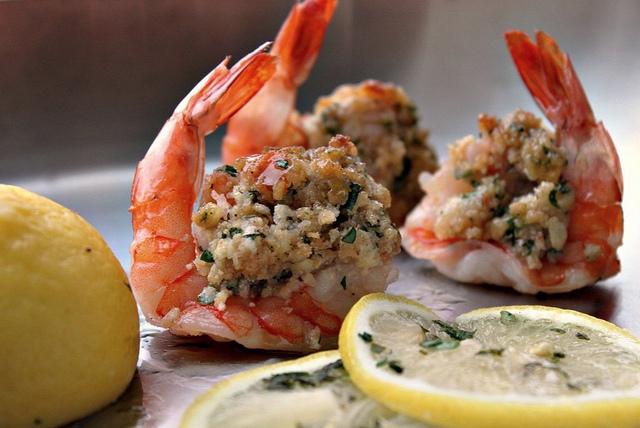 Lighter Baked Stuffed Shrimp