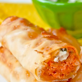 Baked Buffalo Chicken Rolls Recipe