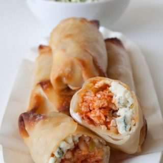 Baked Buffalo Chicken Egg Rolls Recipe and step-by-step tutorial!