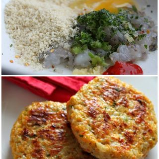 Shrimp Burgers! This is one of the best shrimp recipes around! If you like crab cakes, you'll love these - made with fresh shrimp, panko, rice, Sriracha, lemon, parsley, garlic, and scallions! Consider making the patties smaller for a light appetizer, too!