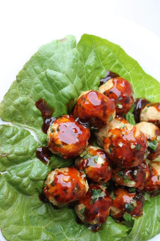 Thai Basil Turkey Meatballs