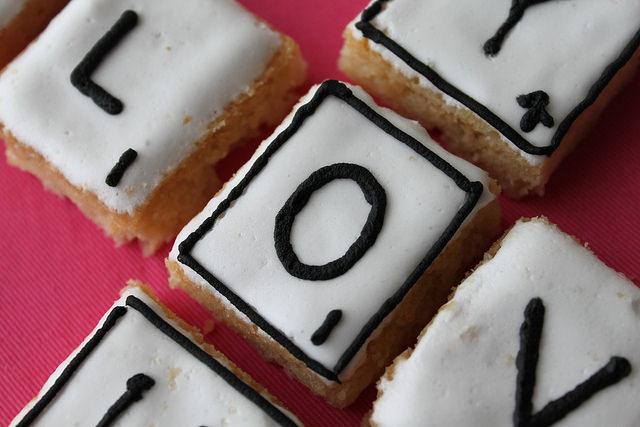Shortbread Scrabble Letter Valentine Cookies