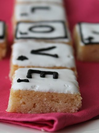 Shortbread Valentines Day Scrabble Letter Cookies
