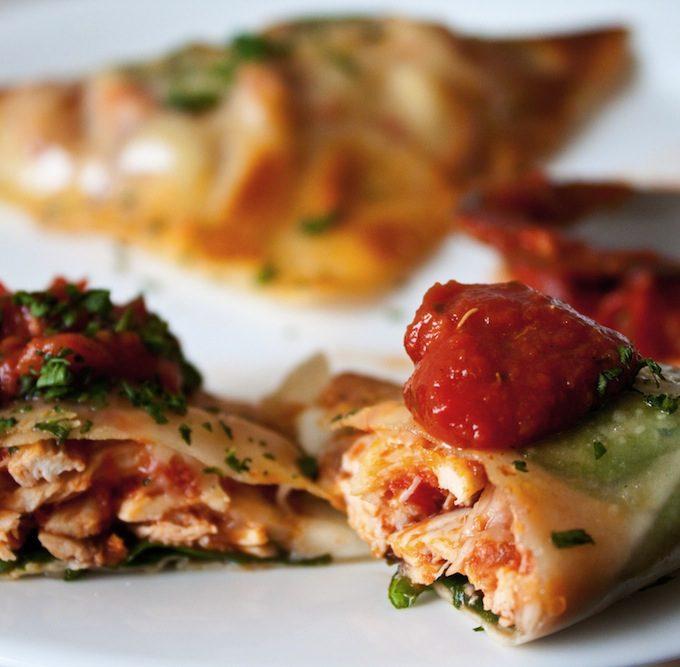 Chicken Parmesan Wraps