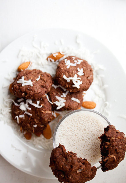 Dark Chocolate Almond Joy Cookies