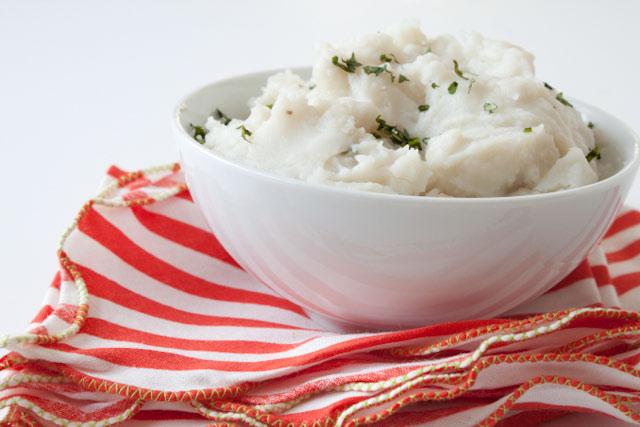 parmesan mashed cauliflower