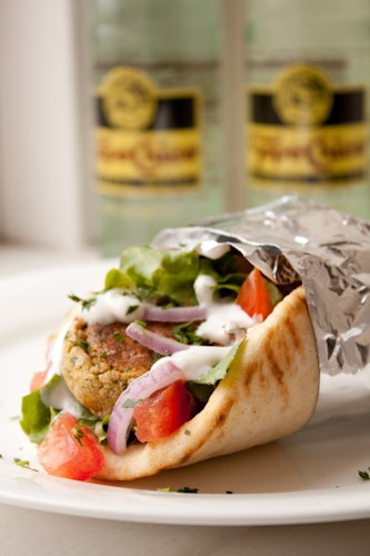 Baked Falafel with Lemon Tahini Sauce