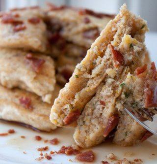Bacon Parmesan Cornmeal Pancakes