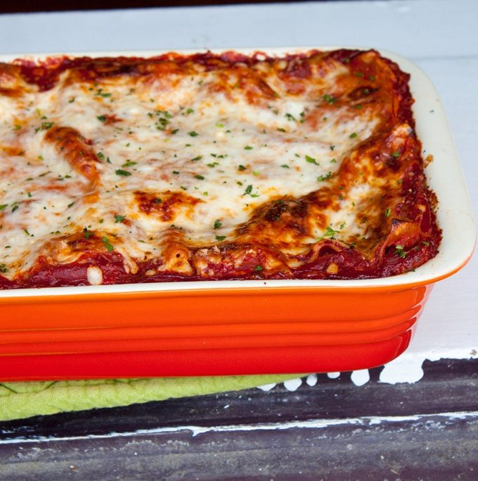 Gooey Three Cheese Lasagna