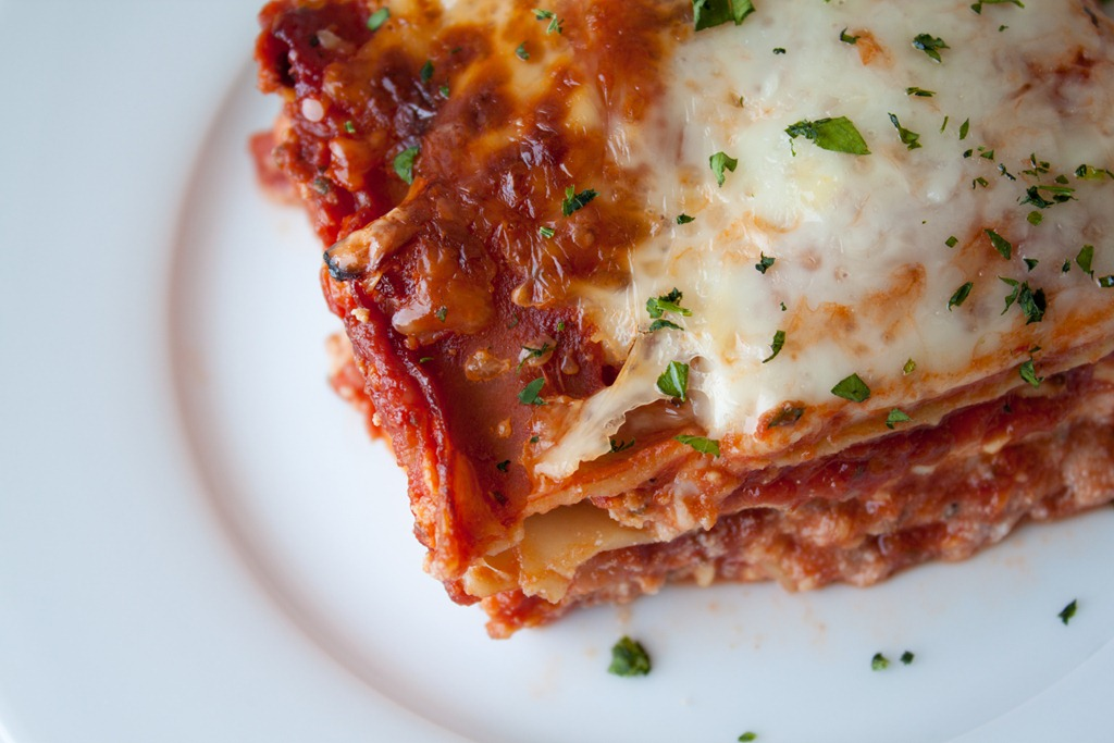Gooey Three Cheese Lasagna - Andie Mitchell