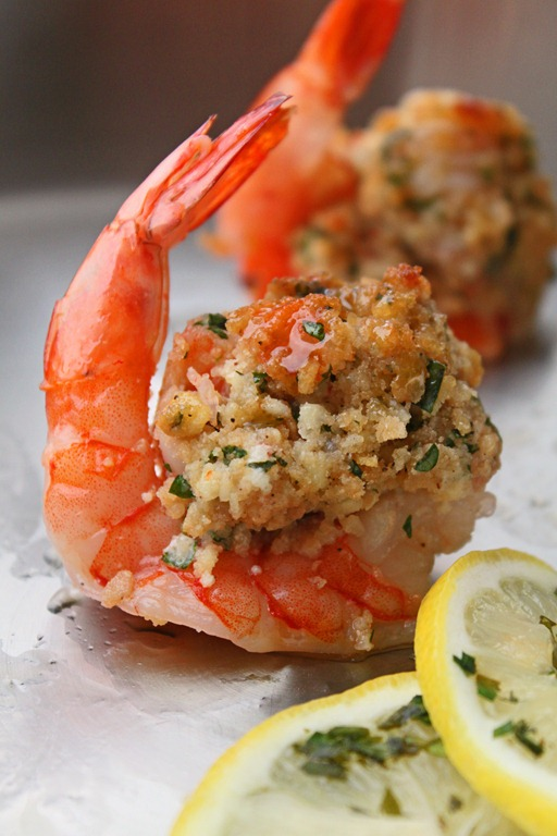 Garlic and Parsley Stuffed Shrimp
