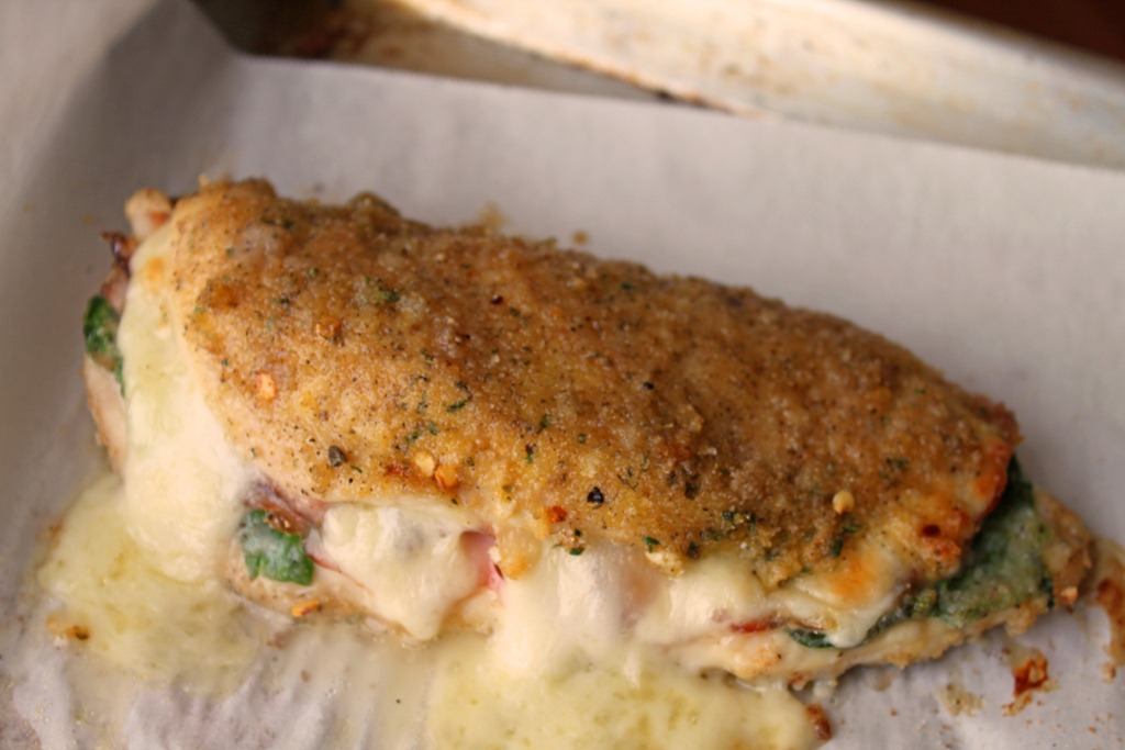 pesto stuffed chicken breasts chicken recipe two peas once settled in ...