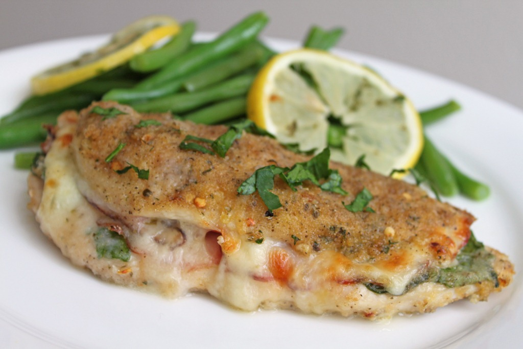 Chicken Stuffed with Pesto, Ham, and Fontina Cheese | Can ...
