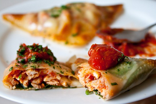 chicken parmesan wraps