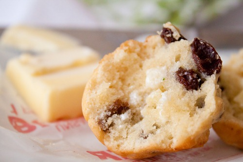 warm muffin with butter