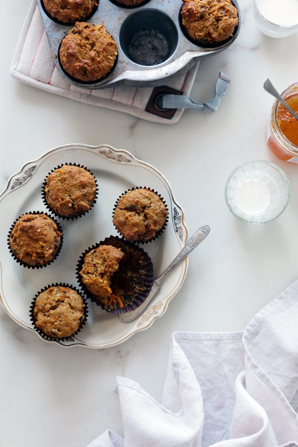 Healthy Morning Glory Muffins with Raisins, Coconut and Pineapple - a moist and tender breakfast muffin recipe that will please everyone!