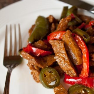 Lighter Spicy Mongolian Beef Recipe! Delicious and healthy Asian beef stir fry!