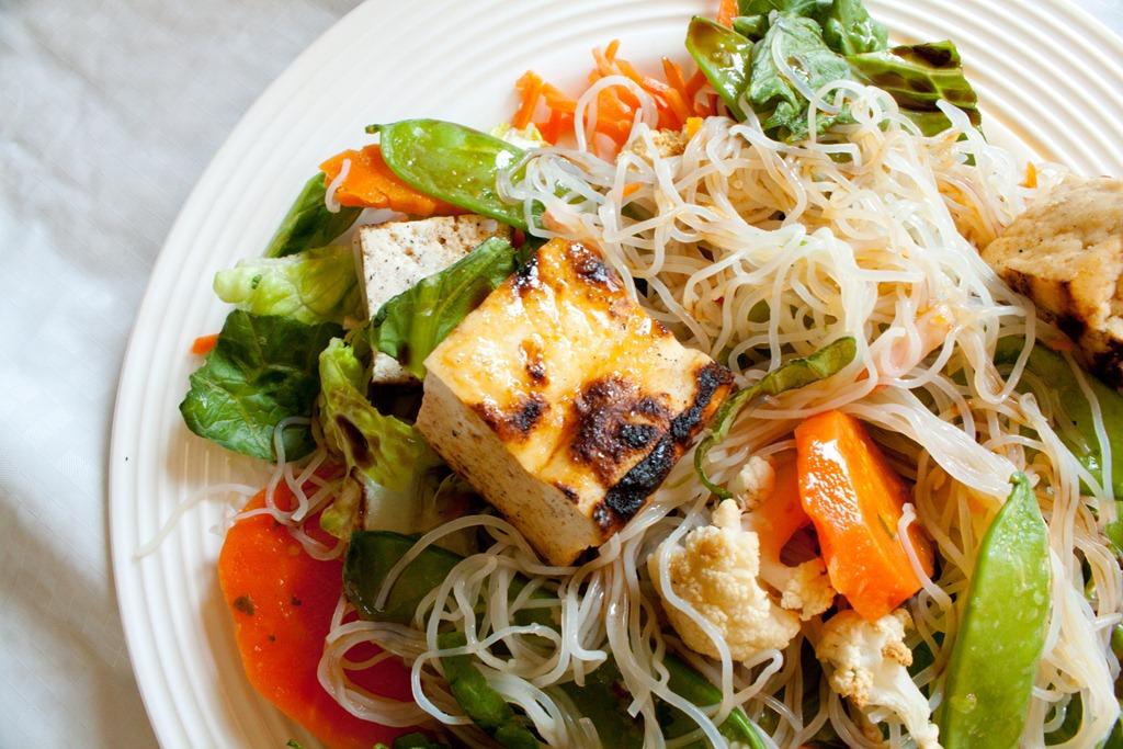 Thai Tofu Salad with Peanut Dressing - Andie Mitchell