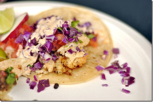 Smoky Fish Tacos Recipe with Easy Cilantro Lime Crema!