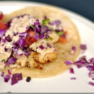 Healthy Fish Tacos Recipe with Cilantro Lime Crema
