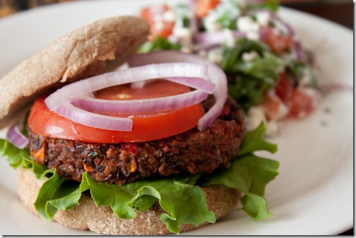 vegan black bean burger (5)