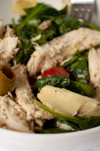 Mediterranean Chicken and Artichoke Salad