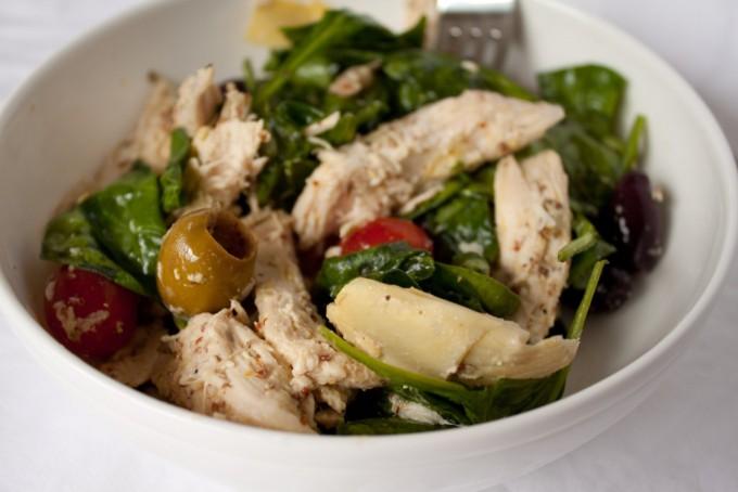 Mediterranean Chicken and Artichoke Salad