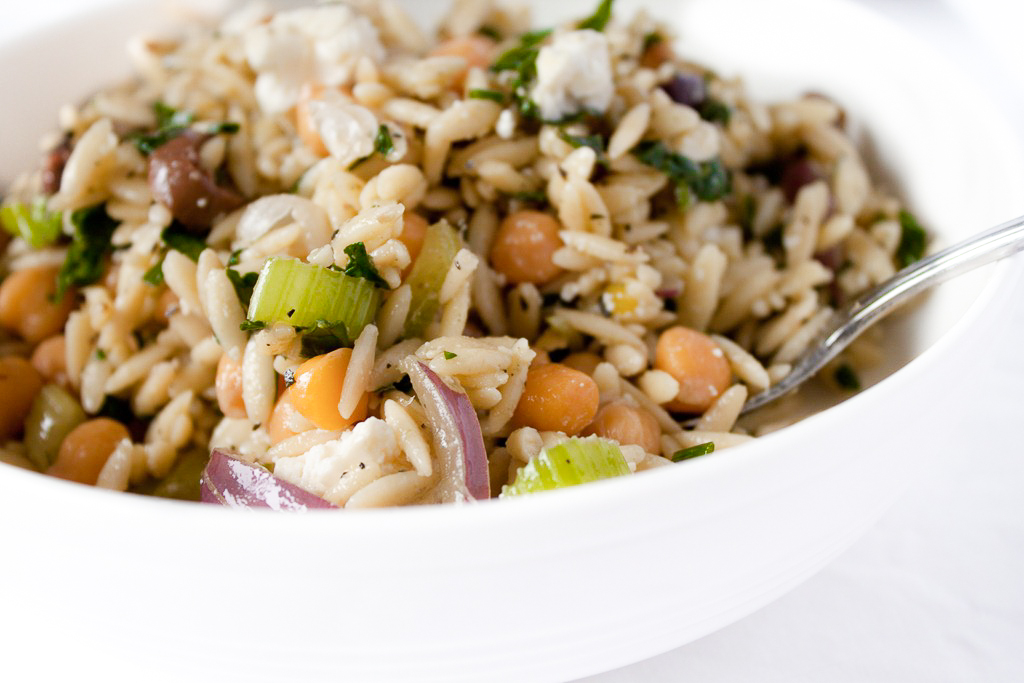 Minted Orzo Salad with Chickpeas and Feta