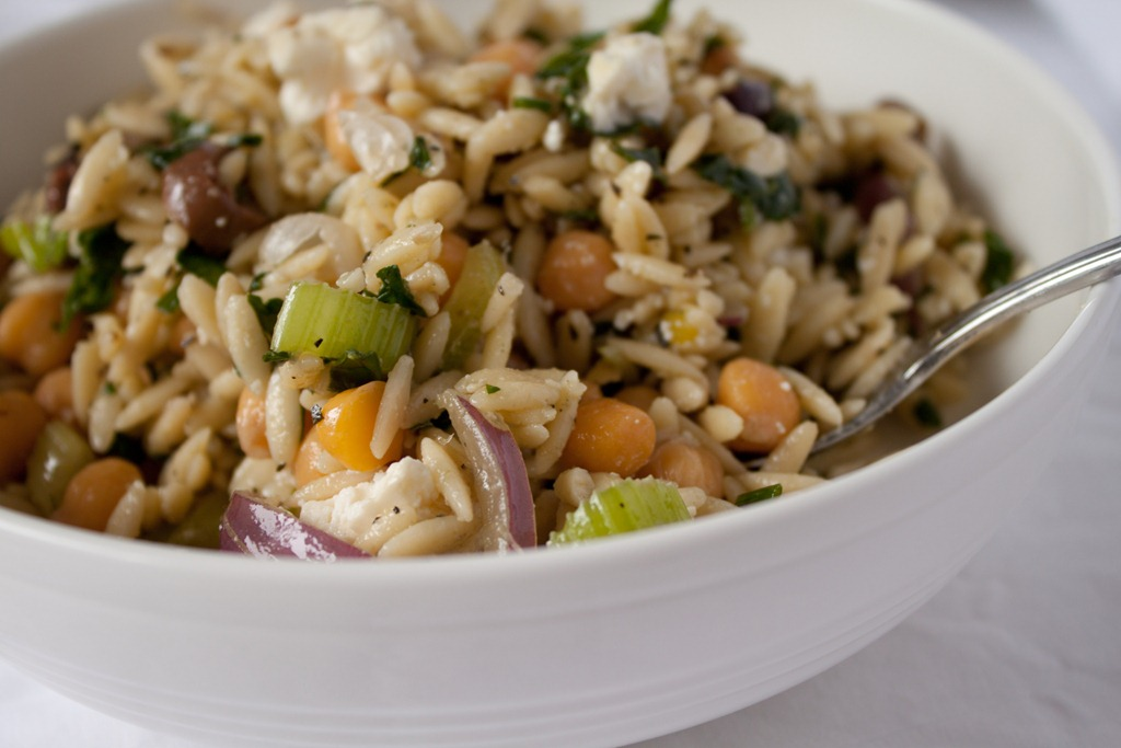 Orzo With Goat Cheese, Peas And Mint Recipes — Dishmaps