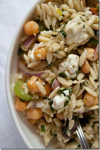 orzo chickpea feta salad-5