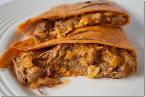slow cooker beef quesadilla-3