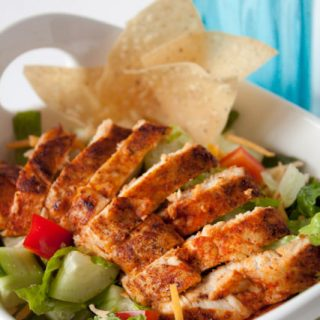 Blackened Chicken Salad Recipe with Light Buttermilk Ranch Dressing!