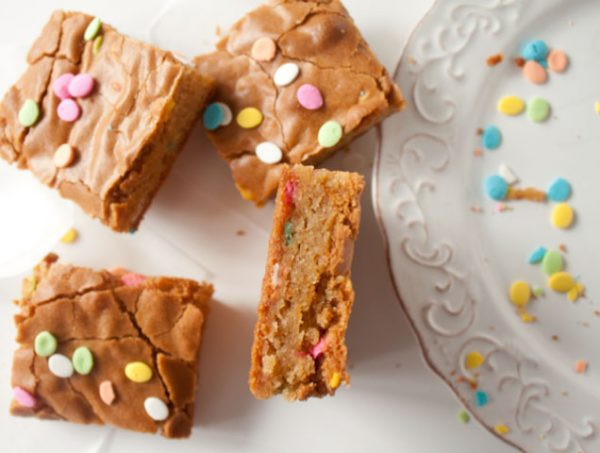 Rainbow Sprinkles Blondies