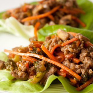 Healthy Chinese Turkey Lettuce Wraps - a quick and delicious Asian dinner!