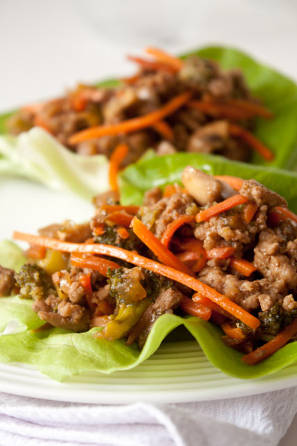 Chinese Turkey Lettuce Wraps