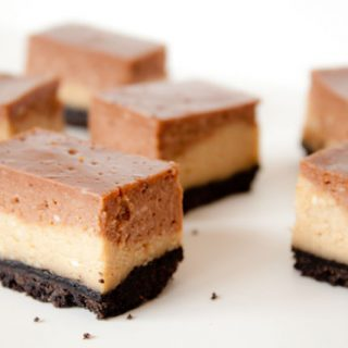 nutella peanut butter cheesecake bars