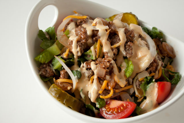 Cheeseburger Salad with Big Mac Dressing | Can You Stay For Dinner?