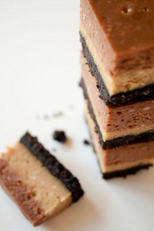 nutella peanut butter cheesecake bars
