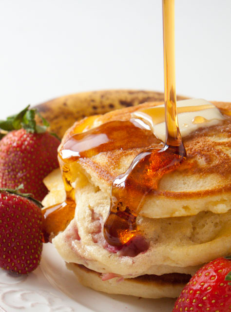 Strawberry Banana Pancakes Recipe