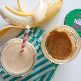 Healthy and Light Peanut Butter Banana Smoothie Recipe 335 calories
