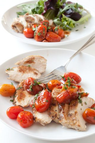 Chicken with Garlic Balsamic Tomatoes