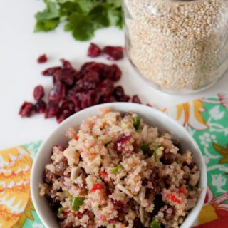 Cranberry Quinoa Salad Recipe! 233 calories per serving