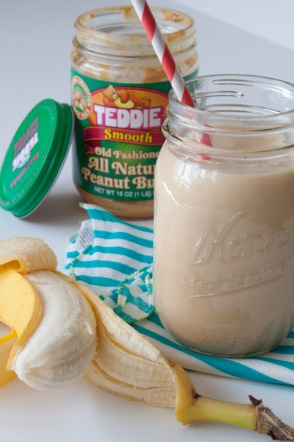 Healthy and Light Peanut Butter Banana Smoothie Recipe